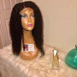Human hair curly wig